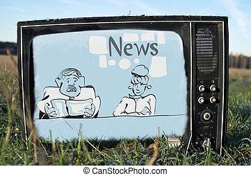 news on broken TV - Breaking news on a broken TV set...