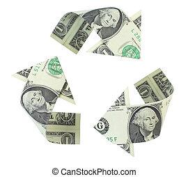 reciclaje, dólares