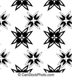 black ethnic ornament drawn coal - black abstraction ethnic...
