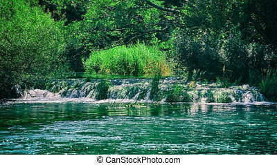 Beautiful Krka river - Beautiful nature of the Krka River...