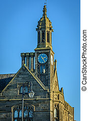 Chester Tower - A church tower in Chester, with a clock face...