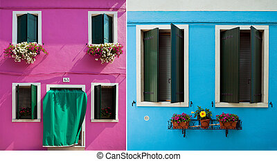 Window from Burano - Window one of the colored houses in...