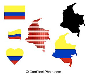 map of Colombia - Map of Colombia different types and...