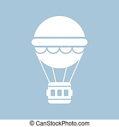 Hot air balloon icon isolated on white background