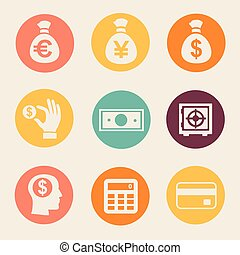 Money and coin icon set  illustration ?