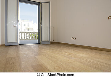 empty room with hardwood floor