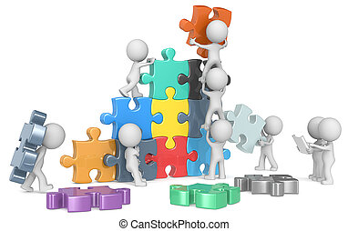 The Team - The dude x 9 building colorful puzzle from...