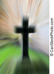 end of life - cross in a cemetery as a symbol of...