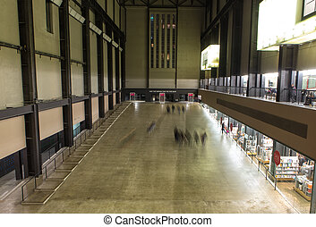 The Turbine Hall in Tate Modern Art Gallery in London, UK