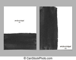 Vector background with watercolor black Abstract watercolor...