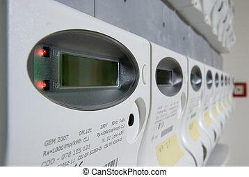 potencia, metro, interruptores