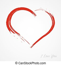 Heart - Red heart, love, Valentines day heart with text on...