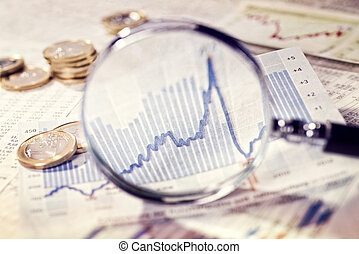 Magnifier shows the evolution of the market