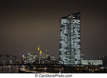 New ECB in Frankfurt - New office building of the European...