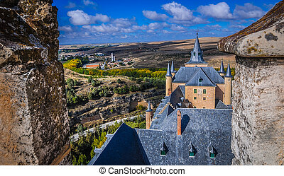 View from rooftop at Alcazar.