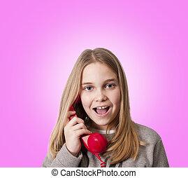 children on the phone