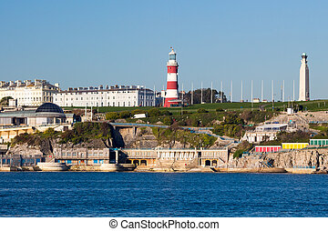 Plymouth Hoe from Mount Batten - Views accross to Plymouth...