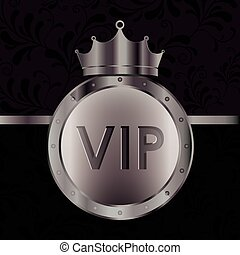 VIP design, vector illustration - VIP design over black...