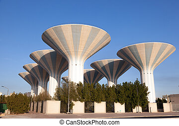 Water towers in Kuwait, Middle East