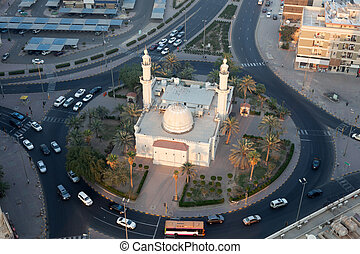 Mosque in the roundabout in Kuwait City, Middle East