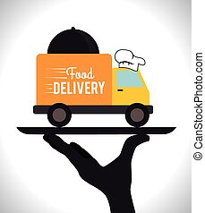 Delivery design, vector illustration. - Delivery design over...