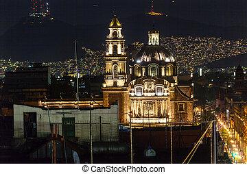 Plaza de Santa Domingo Chruches Zocalo Mexico City Christmas...
