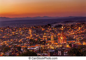 San Miguel de Allende Mexico Miramar Overlook Sunset...
