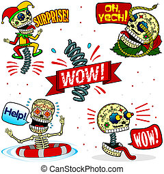 Funny skeletons. Emotions. Part Two