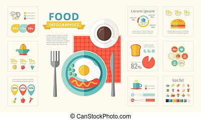 Food Infographic Elements. - Food Infographic Template....