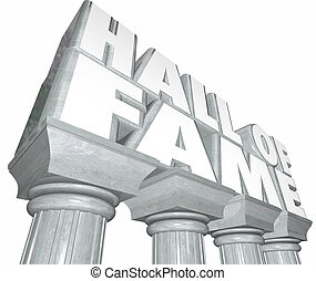 Hall of Fame Words Marble Columns Famous Celebrity Legendary...