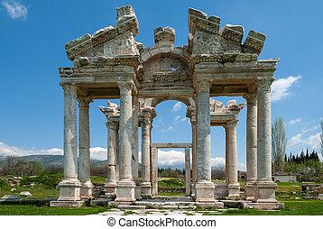 Ruinas, de, Afrodisias, pavo,