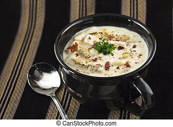 New England Clam Chowder - Creamy New England Clam Chowder...
