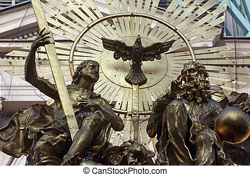 Holy Trinity, Plague Monument in Vienna, Austria on October...