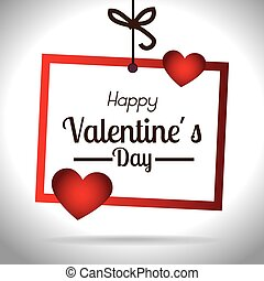 Valentines day, vector illustration - Valentines day over...