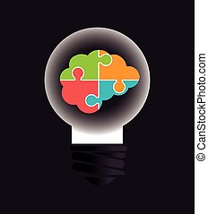 Ideas design, vector illustration - Ideas design over gray...
