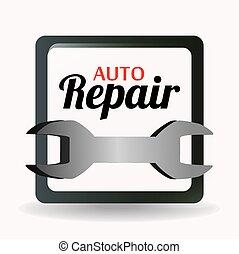 Garage design, vector illustration - Garage design over...