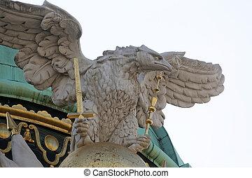 arquitectónico, hofburg, palacio, artístico, decoraciones,...