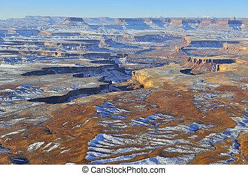 Green River overlook in Canyonlands National Park, Utah in...