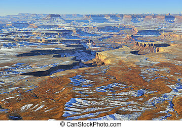 Green River overlook in Canyonlands National Park, Utah in...