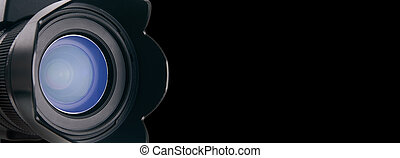 Close lens view - Photo dream world Lens of a cameras detail...