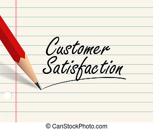 Pencil paper - customer satisfaction
