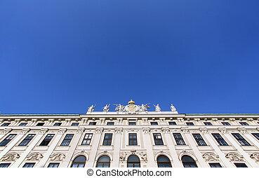 arquitectónico, decoraciones, en, Hofburg, palacio,...