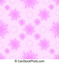 Gentle seamless pink floral pattern (vector)