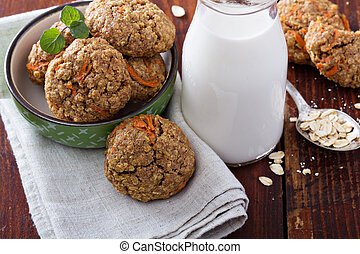Healthy oatmeal carrot cookies - Healthy soft oatmeal carrot...