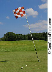 golf course - flag on the golf course