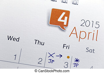 Text on calendar show in monthly of 2015. - The Picture Text...
