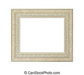 Ivory frame isolated on white background