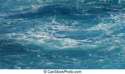 View of Wavy Water Surface