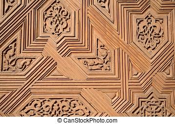 madeira, esculpindo, textura,