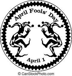 April Fools Day or All Fools Day - Imprint rubber stamp...
